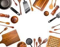 Utensilios de la cocina/diversos utensilios de la cocina aislados Foto de archivo