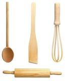 Utensilios de madera de la cocina Imagen de archivo libre de regalías