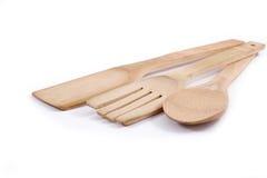 Utensilios de madera de la cocina Imagen de archivo