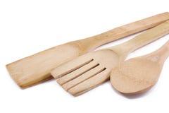 Utensilios de madera de la cocina Foto de archivo libre de regalías