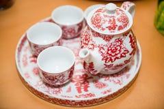 Utensilios para el servicio el té Foto de archivo libre de regalías