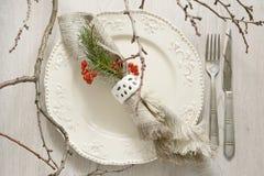 Utensilios para la cena festiva fotos de archivo libres de regalías