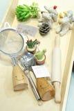 Utensilios y dispositivos de la cocina Imagenes de archivo