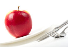 Free Utensils And Red Apple Stock Image - 8574191