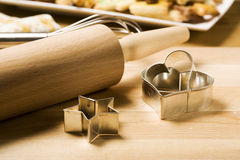 Utensils for baking christmas cookies Stock Photography
