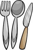Utensils cartoon illustration Stock Images