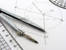 utensils för diagramgeometribild Fotografering för Bildbyråer