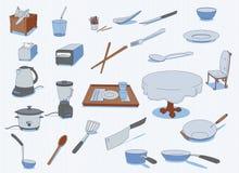 utensils för service för anddatalistkök trevliga Royaltyfria Foton