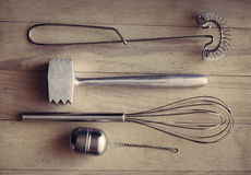 utensils för service för anddatalistkök trevliga Royaltyfri Foto