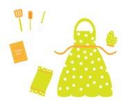 utensils för tillbehörförklädecookware Royaltyfri Bild