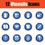 Utensils icon set. Royalty Free Stock Photos