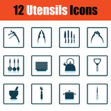 Utensils icon set Stock Images