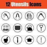 Utensils icon set Stock Photo