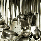 Utensils In A Hotel Kitchen Royalty Free Stock Photos