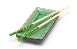 Utensils for a Japanese sushi Royalty Free Stock Photo