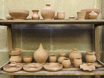 Utensils neighborhood. Exhibition of handicraft, handwork Stock Photography