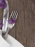 Utensils with place for the text Royalty Free Stock Photos