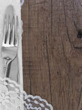 Utensils with place for the text Royalty Free Stock Images