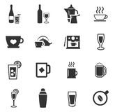 Utensils for the preparation of beverages. Icon set for web sites and user interface Stock Photography