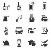 Utensils for the preparation of beverages. Icon set for web sites and user interface Stock Photo