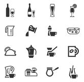 Utensils for the preparation of beverages. Icon set for web sites and user interface Royalty Free Stock Image