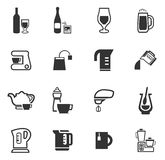 Utensils for the preparation of beverages. Icon set for web sites and user interface Stock Photos
