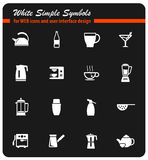 Utensils for the preparation of beverages. Icon set for web sites and user interface Royalty Free Stock Photo