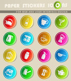 Utensils for the preparation of beverages. Icon set for web sites and user interface Royalty Free Stock Photos