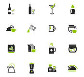 Utensils for the preparation of beverages icons. Utensils for the preparation of beverages icon set for web sites and user interface Royalty Free Stock Images