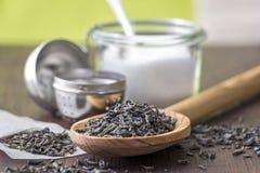 Utensils for preparing tea on the table Stock Images