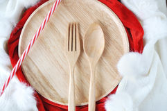 Utensils Set on Holiday Season Royalty Free Stock Photos