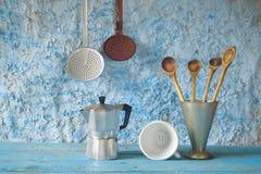 Utensílios da cozinha do vintage Fotos de Stock Royalty Free