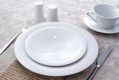 Utensílios de mesa cerâmicos Fotografia de Stock
