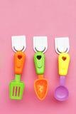 Utensílios de mesa plásticos Imagens de Stock Royalty Free