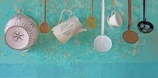 Utenslis de la cocina del vintage Foto de archivo libre de regalías