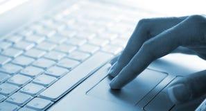 Utente del computer portatile Immagine Stock Libera da Diritti