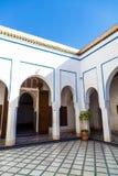 Uteplats av Bahia Palace Royaltyfria Bilder