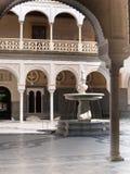 Uteplats av Casa de Pilatos, Seville Fotografering för Bildbyråer
