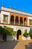 Uteplats av Casa de Pilatos - Seville Spanien Arkivfoto