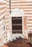 Uteplats av den Palazzo dellaen Ragione i den Verona staden Royaltyfri Foto