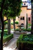 Uteplats av Granada Royaltyfria Bilder