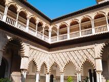 Uteplats de las Doncellas, verklig Alcazar, Seville Royaltyfri Foto
