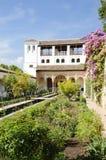 uteplats för acequia de trädgård generalifela Royaltyfria Foton
