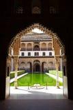 uteplats för alhambra arrayanesde granada Royaltyfria Foton