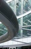 uteplats för kontor för fragment för byggnadskonstruktion Arkivbild
