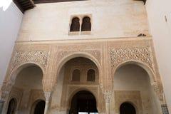 Uteplats på Alhambra Arkivfoto