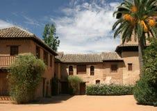Uteplats på Alhambra Granada Arkivbilder