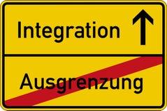 Uteslutande och integration royaltyfri illustrationer