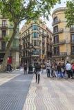 Utfärd i staden av modernism, Barcelona royaltyfri foto