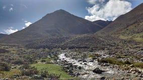 utfärd till och med Anderna Arkivbild